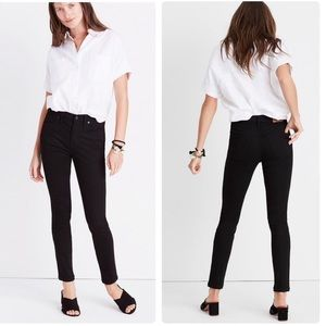 Madewell Black High Rise Skinny Skinny Jeans